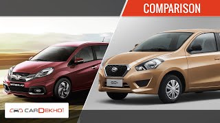 Honda Mobilio Vs Datsun Go+ | Comparison Video | CarDekho.com
