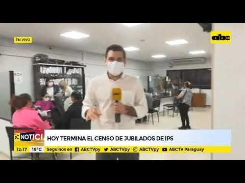 Hoy termina el censo de jubilados de IPS