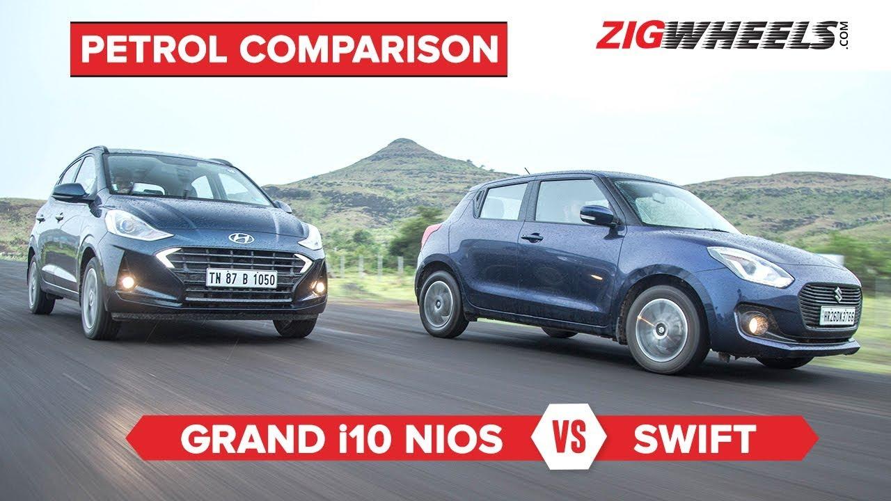 Hyundai Grand i10 Nios vs Maruti Suzuki Swift | Petrol Comparison | ZigWheels