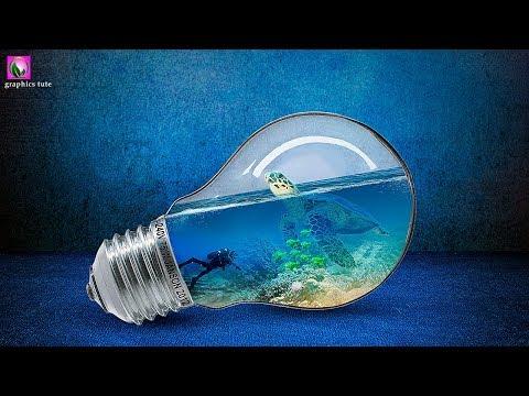Bulb Underwater Photo Manipulation - Photoshop Manipulation Tutorial