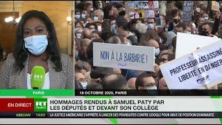 A l'Assemblée nationale, les députés rendent hommage à Samuel Paty
