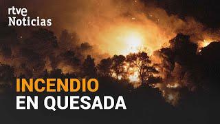 20 medios aéreos y 100 operarios LUCHAN POR EXTINGUIR el INCENDIO de QUESADA, JAÉN | RTVE Noticias