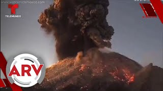 Volcán Popocatépetl hace impactante explosión y emiten alerta   Al Rojo Vivo   Telemundo