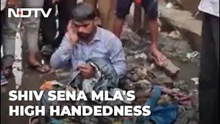 On Camera, Sena MLA Dumps Garbage On Man For backslash