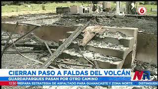 Acceso principal al Volcán Turrialba en disputa