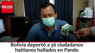 DEPORTAN HAITIANOS DESDE PANDO