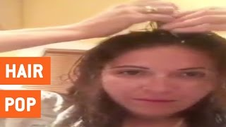 Woman Pops Hair To Get Rid of Headaches | Hair Popping