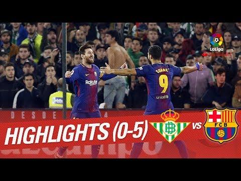 Resumen de Real Betis vs FC Barcelona (0-5)