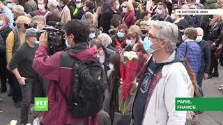 Paris : des milliers de personnes se sont réunies pour rendre hommage à Samuel Paty