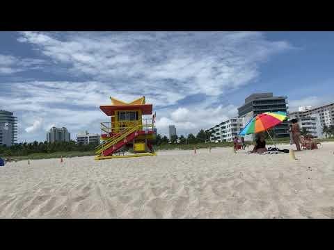 Bandera roja y mucho oleaje en Miami Beach