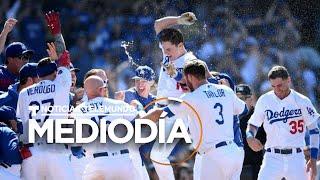 Los Dodgers vencen a los Bravos y pasan a la Serie Mundial | Noticias Telemundo