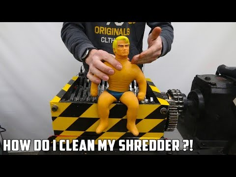 connectYoutube - High Pressure Washing the Shredder after Shredding Stretch Armstrong