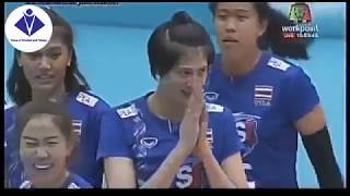 FIVB JAPAN 2018 highlihgt women's Trinidad Tobago vs Thailand women's volleyball world championship