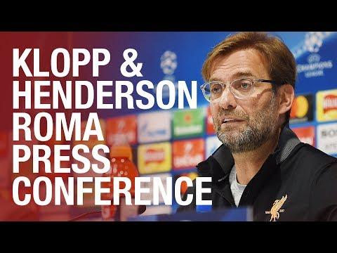 Klopp & Henderson's Champions League semi-final press conference   Roma