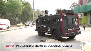 Evacuan universidad de Antioquia y Nacional, en Medellín, por disturbios