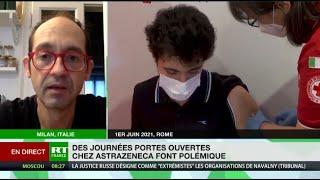 Des jeunes vaccinés en Italie avec AstraZeneca pour «atteindre l'immunité collective avant l'été»