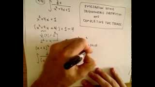 Trigonmetric Substitution EX 3 - W/ Completing the Square