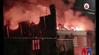 Incendio afectó salón comunal de Turrialba la noche de este miércoles