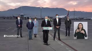 Presidente Piñera recibió el cargamento más grande de vacunas que ha llegado a Chile