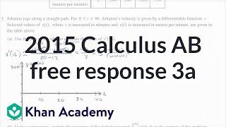 2015 AP Calculus AB/BC 3a
