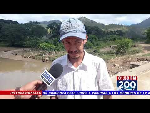 Casi incomunicadas por daños a puente, unas 10 comunidades de El Paraíso