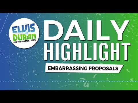 connectYoutube - Embarrassing Proposals   Elvis Duran Daily Highlight