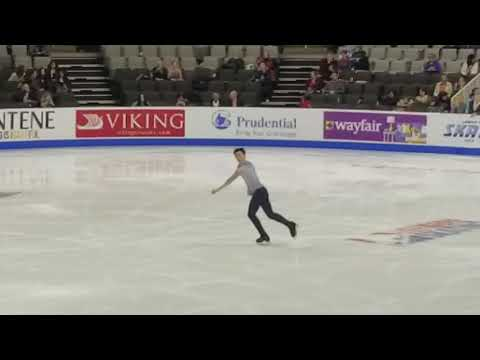 Vincent Zhou Quad Flip - 2018 U.S. Nationals, Men's SP Warm Up