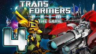 Transformers Prime Walkthrough Part 4 No Commentary (WiiU, Wii) - Bumblebee Mission 4