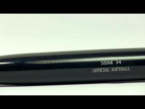 BWP Maple Wood Softball Bat: BWPSBM Black Slow Pitch