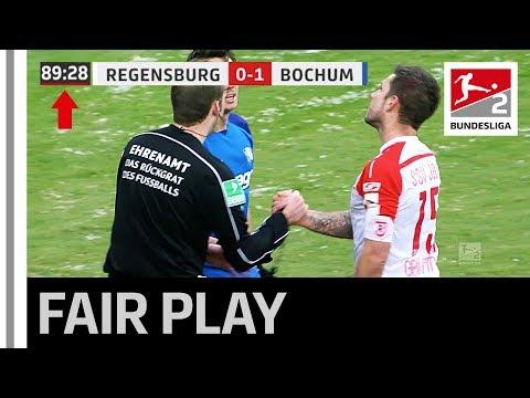 Fair play award - Despite trailing in injury time