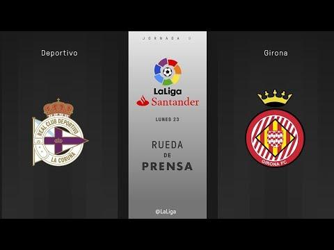 Rueda de prensa Deportivo vs Girona