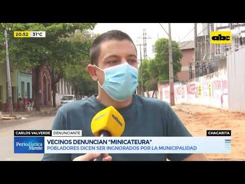 Vecinos de la Chacarita denuncian un minicateura