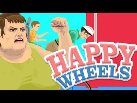 Joguei Happy Wheels o jogo mais aleatório do MUNDO!!