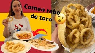 PROBANDO COMIDA TÍPICA ESPAÑOLA: esto comen en MADRID | GLADYS SEARA