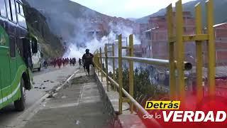 Policía gasifica protesta de cocaleros de Adepcocanflicto en la Asociación Departamental de Producto