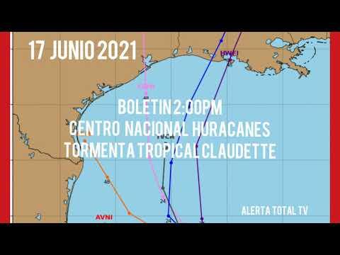 #ALERTA-CENTRO NACIONAL HURACANES-BOLETIN 2:00PM             17 JUNIO 2021