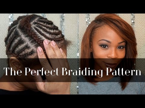 braid pattern for the GLAM WEAVE.(alternative) sew-in 2much hair ...