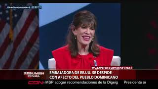 Embajadora de EE.UU se despide con afecto del pueblo dominicano