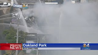 Explosion, Fire Heavily Damage Oakland Park Styrofoam Manufacturing Business