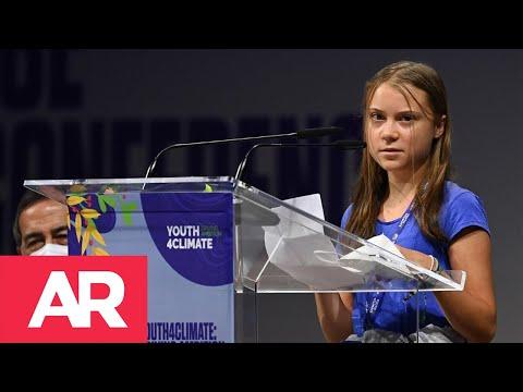 GretaThunberg denuncia 30 años de políticas bla, bla, bla por el Cambio Climático.
