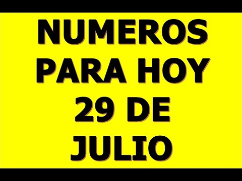 NUMEROS DE LA SUERTE PARA HOY 29 DE JULIO DEL 2021