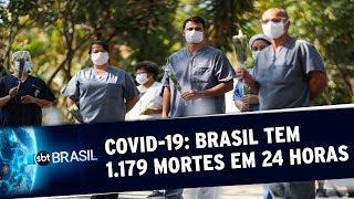 Covid-19: Brasil atinge novo recorde e confirma 1.179 mortes em 24 horas | SBT Brasil (19/05/20)