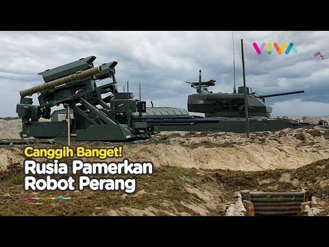 Rusia Pamer Robot Tempur Terbaru saat Latihan Perang