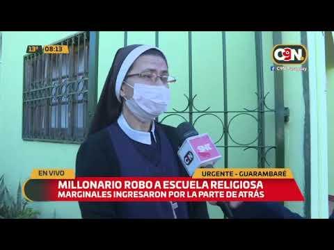 Millonario robo a una escuela religiosa en Guarambaré