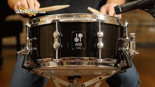 Sonor 6x13 AQ2 Maple Snare Drum - Transparent Black—Quick 'N'Dirty