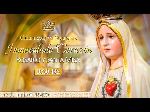INMACULADO CORAZÓN DE MARÍARosario y Santa Misa HOY 12 de JunioEN VIVO