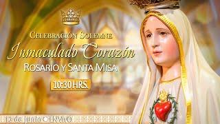 INMACULADO CORAZÓN DE MARÍA????Rosario y Santa Misa???? HOY 12 de Junio????EN VIVO