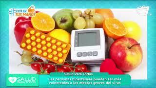 Salud para todos: Covid-19 en personas con hipertensión