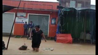 Inundaciones en Alta Verapaz debido a las fuertes lluvias