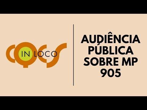 Imagem post: Audiência Pública sobre MP 905